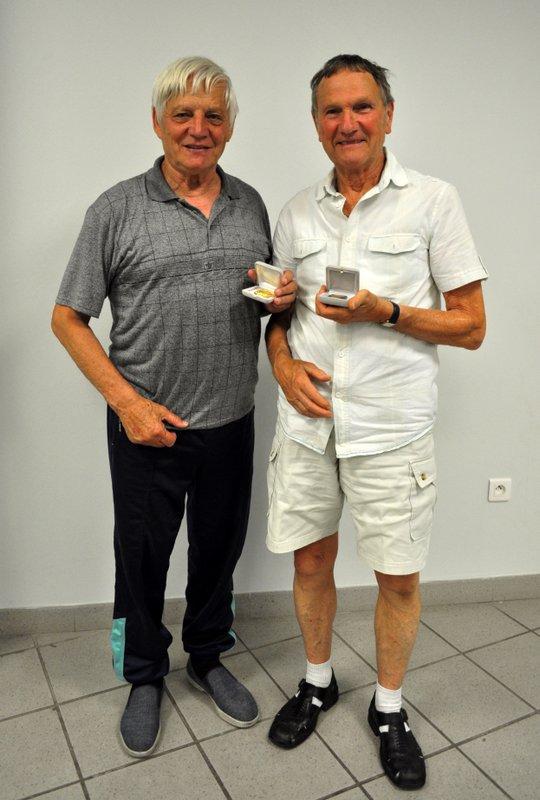 Michel et Francis médaillés à l'AG de l'US TTT le 08/06/2012