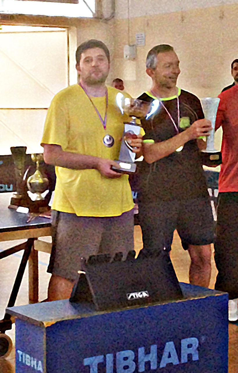 Matthieu et Laurent avec leurs trophées